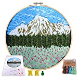 MEIAN Mountain Embroidery Kit for Beginners Adults Cross Stitch Patterns Starter Kits for Kids Including