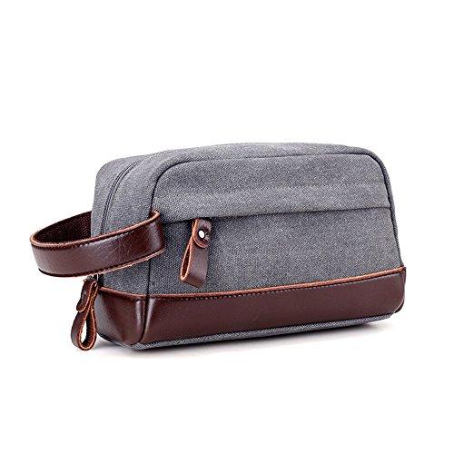 Young & Ming - Neceser de viaje Bolsas de aseo impermeable portátil Bolsa de mano compacta para hombre y mujer Organizador con asa