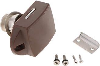Zinklegering drukknoop luik kast slot knop voor kabinet/RV/boot (Pearl Nickel)