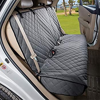 VIEWPETS Bench Car Seat Cover Protector - Waterproof Heavy-Duty and Nonslip Pet Car Seat Cover for Dogs with Universal Size Fits for Cars Trucks & SUVs Grey