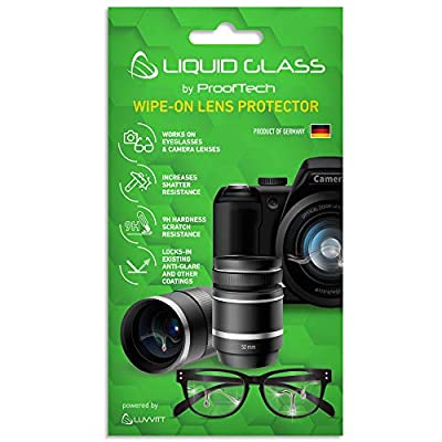Liquid Glass Lens Protector Scratch Resistant Coating for All Camera Lenses Smartphone Cameras Eyeglasses and Sunglasses - Universal from ProofTech