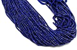 World Wide Gems Beads Gemstone Lapis Lazuli Roundels Diamond Cut Faceted 3.5 mm 13 Inch Strand, Size, Natural Colour (sku2115 Code-HIGH-39561