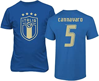 Tcamp Soccer Legends #5 Fabio CANNAVARO Jersey Style Men's T-Shirt