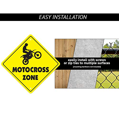 "Semi Truck Crossing Sign Zone Xing | Indoor/Outdoor | 12"" Tall Plastic Sign driver teamster trucker 18 wheeler Photo #4"