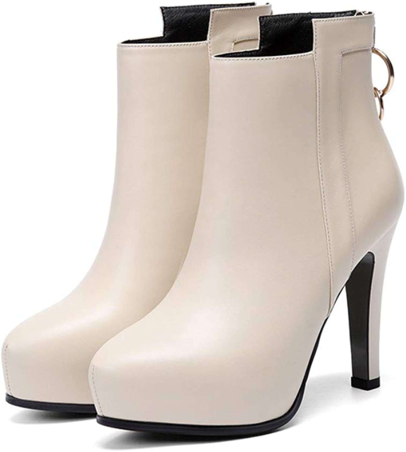 Womens shoes Super High Heel Sexy Ankle Boots Ladies Stiletto Heel Zipper High-Top shoes for Fall Winter