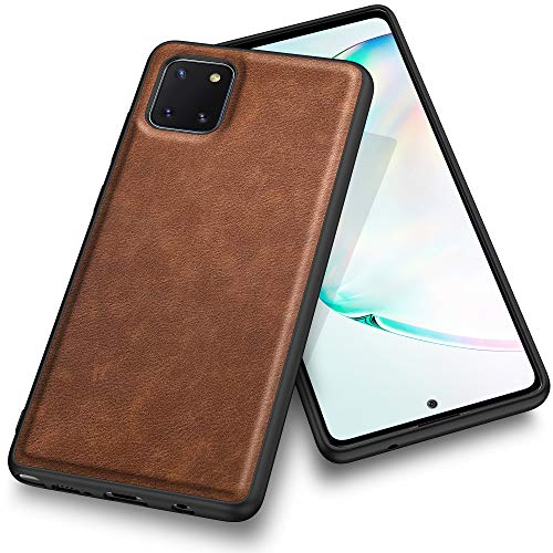 Kqimi Hülle für Samsung Galaxy Note 10 lite, Premium Leder Slim Stilvolle Soft Grip Stoßfeste Anti-Kratzschutz Schutzhüllen für Samsung Galaxy Note10 lite (6.7