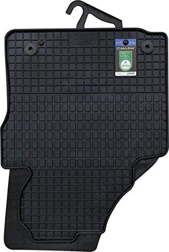 PETEX Gummimatten passend für Caddy ab 03/2004-05/2015 / Caddy Life ab 06/2004-05/2015 / Caddy IV ab 06/2015 2-5 Sitzer vorne Fußmatten schwarz 2-teilig