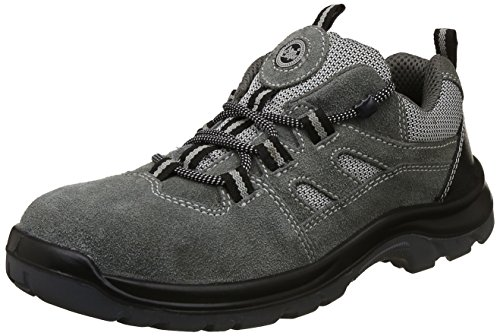 Allen Cooper AC-1439 Sports Series Safety Shoe, ISI Marked for IS 15298 Pt-2, Antistatic, Steel Toe Cap for 200 Joules, Size 9 (GREY)