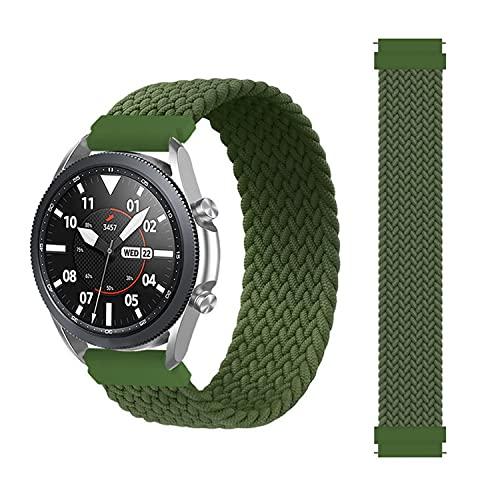 BoLuo 22mm Correa para Galaxy Watch 3 45mm,Nylon Correas Reloj, Bandas Correa Repuesto,Silicona Reloj Recambio Brazalete Correa Repuesto para Samsung Galaxy Watch 46mm/Gear S3 Classic (verde)