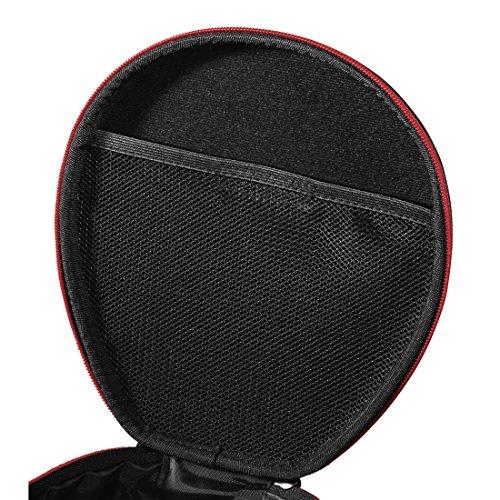 Thomson On-Ear/Over-Ear Kopfhörer Tasche (Case zur Aufbewahrung von Headphones, passend für Sony, JBL, Bose, Sennheiser, Travel Case mit Reißverschluss und Zubehör-Netzfach, Headphone Box) schwarz