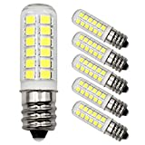 E12 LED Candelabra Base Lamps AC120V 2.5W(25W Incandescent Equivalent),260 Lumen,White 6000K,for Wax Diffuser,Himalayan Salt Lamps & Baskets, Chandeliers,Candle & Wax Warmers,Night Lights,5-Pack