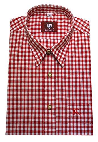Orbis Textil Trachtenhemd rot-weiß L