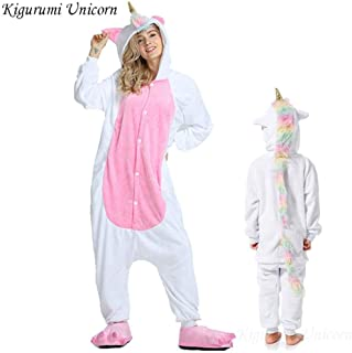 Pajama Adult Animal Stitch Onesie Boys Girls Women Men Couple Winter Pajama Suit Sleepwear Flannel Pijama Hyococ (Color : Silver, Size : 14)
