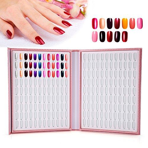 216 Farben Gel Nagellack Farbe Nagellack Buch Tabelle Ausstellung NAIL ART Showing Shelf Rosa