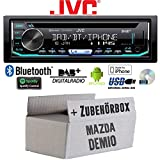 Mazda Demio - Autoradio Radio JVC KD-DB902BT - Bluetooth | DAB+ | CD | Spotify | USB | Android | iPhone Einbauzubehör - Einbauset