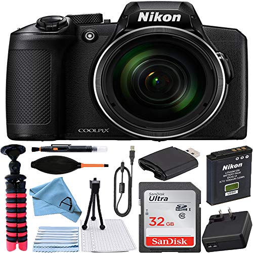 Nikon COOLPIX B600 Digital Camera (Black) with...