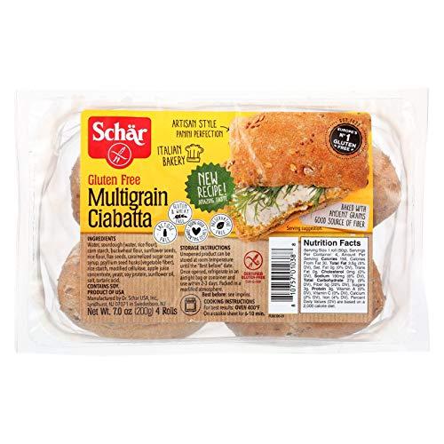Schar Multigrain Ciabatta Rolls Gluten Free - Case of 6 - 7 oz.