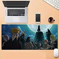 NARUTO-ナルト-マウスパッドアニメゲーミングマウスパッドXXL900x400x3 mm、3mm滑り止めラバーベースで防水、コンピューター、PC用の特別なテクスチャー表面-A_900x400x30mm