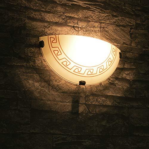 Edle Wandleuchte Glas griechisches Design mediterrane Wandlampe Flur Schlafzimmer Hotel