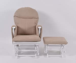 Habebe Glider Rocking Nursing Recliner Maternity Chair with footstool    WASHABLE COVERS