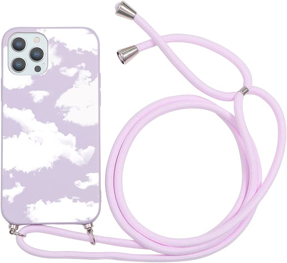 Yoedge Crossbody Case for Huawei Mate 20 Pro, Neck Cord Phone Case with Adjustable Lanyard Strap, Soft TPU Silicone with Cute Pattern Cover Compatible with Huawei Mate 20 Pro [6.39