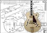 Plan de guitare jazz électrique Gibson L5 Archtop – Imprimé en taille réelle