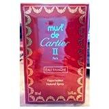 """Must De Cartier II Eau Fraiche 1.6 Oz Eau De Toilette Spray for Ladies""""Rare"""""""