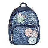 ital-Design Damen Blumen Mini-Rucksack Backpack Tasche Daypack Cityrucksack Leder Optik...