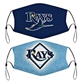 Tampa Bay Devil Rays 2 PCS Face Covers Outdoor Fashion Bandana Cover for Men Women
