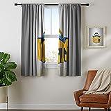 Juego de 2 cortinas opacas con bolsillo para barra de DRAGON VINES cortina opaca Den-ver-Nu-ggets-fondo-cartel multifuncional Power Off Curtain Set de 2 paneles W72 x L84