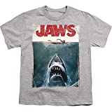 Jaws Shark Original Movie Poster Youth T Shirt & Stickers (Small)