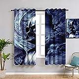 Sdustin Cortinas de salón de Star-Wars 213 x 213 cm, cortinas personalizadas, para sala de estar, comedor, dormitorio
