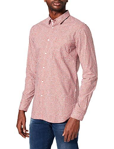 BOSS Magneton_1 Camisa, Medium Red611, L para Hombre