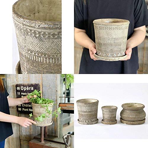 SPICEOFLIFE(スパイス)植木鉢オリンポスプランターブラウンLサイズ直径17.5cm高さ17.5cmCCGK1913