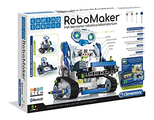 Clementoni Robomaker Start, STEM Kit, Spielzeugroboter für Kinder, Coding Spiele, 8+ Jahre, 66926, Multicolor