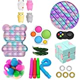 Bigmeda Fidget Toys 30 Packs, Anti-Stress and Anti-Anxiety Fidget Toys Set Juguetes Sensoriales Fidget Baratos Push Bubble Toy Infinite Cube Stress Ball Regalos para Niños (08)