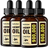 ✅ POWERFUL FORMULATION: Pay for 1,000MG and get 900,000MG high potency pure hemp oil. Throw away your seed oil, hemp extract is your correct choice, 900,000MG LCUKCHAN HEMP OIL is amazing deal! Start enjoying your healthy life! ✅ CO2 EXTRACTION: We u...