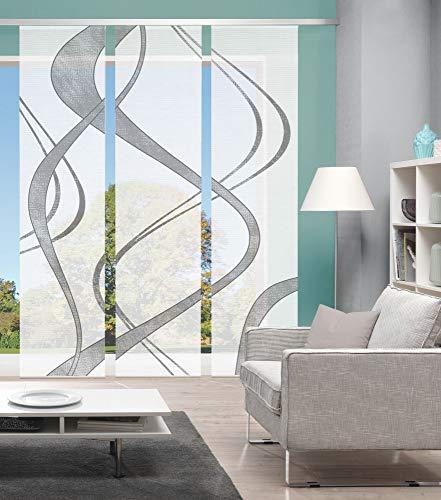 Vision S 3er-Set Schiebevorhänge TIBANO, halbtransparent, Höhe 260 cm, grau