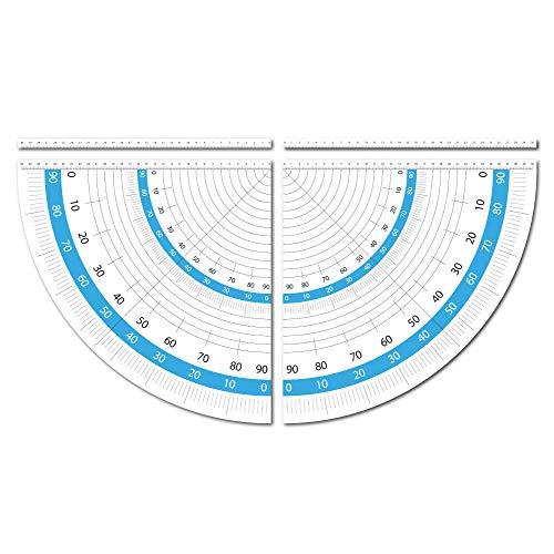 Geodreieck Aufkleber Set speziell für Kappsägen 30 cm selbstklebend als Zeichendreieck ideal für Handwerker-Werkbänke oder Patchworker und Schneider zum Winkel-Messen