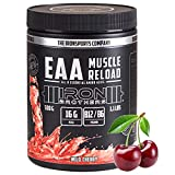 EAA MUSCLE RELOAD essentiellen Aminosäuren Pulver mit BCAA + Vitamin B12 & B6   IRON BROTHERS   Low Carb Amino Acids   500g Dose Aminosäuren komplex   MADE IN GERMANY (Wild Cherry)