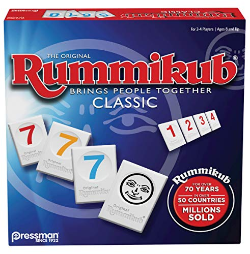 Rummikub by Pressman  Classic Edition  The Original Rummy Tile Game Blue
