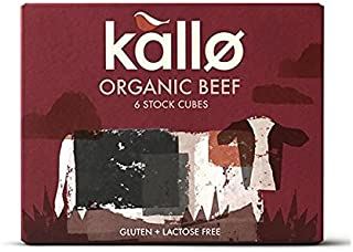 (8 PACK) - Kallo Beef Stock Cubes - Low Salt & Organic| 51 g |8 PACK - SUPER SAVER - SAVE MONEY