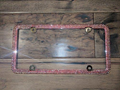 Genuine Swarovski License Plate Frame - Rose AB -  Sparkle Couture by Chloe