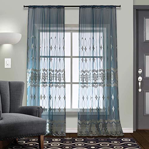 cortinas transparentes salon