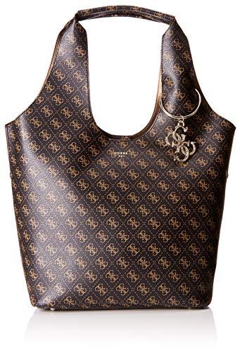 Guess - Flora, Shoppers y bolsos de hombro Mujer, Marrón (Brown/Bro), 45x31x16.5...