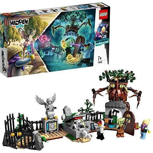 LEGO - Hidden Side Misterio del Cementerio Juguete de construcción con realidad aumentada, incluye lápidas interactivas y cuatro minifiguras, Novedad 2019 (70420)