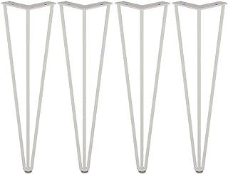 acero desnudo 2 varillas de acero de 10 mm patas de mesa para muebles soporta grandes cargas. 4 patas de horquilla de 36 cm de alta resistencia patas de mesa de metal