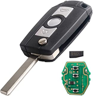 Dudely Keyless Entry Remote Control Car Ignition Flip Key Fob Chip ID44 315MHz 433MHz for BMW LX8 FZV LX8FZV photo