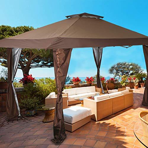PHI VILLA 13'x13' UV Block Sun Shade Canopy with Hardware Kits, Gazebo Shade for Patio Outdoor...