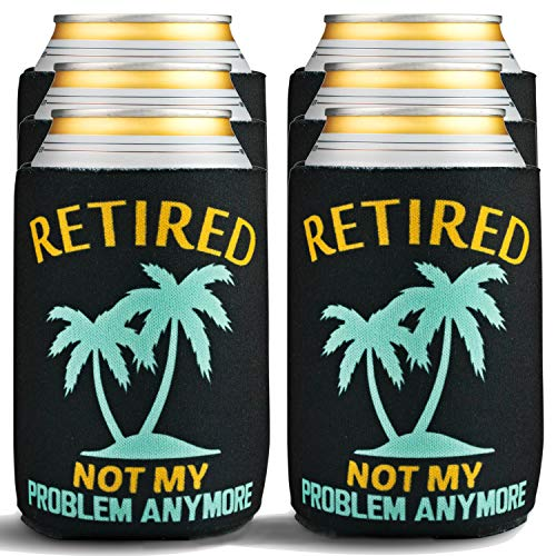 Retirement Gifts for Men & Women - Beverage Can Coolers - Vacation Beer Sleeves for Retirement Party...